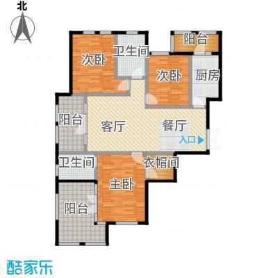 群力玫瑰湾91.00㎡G05D户型3室1厅2卫1厨