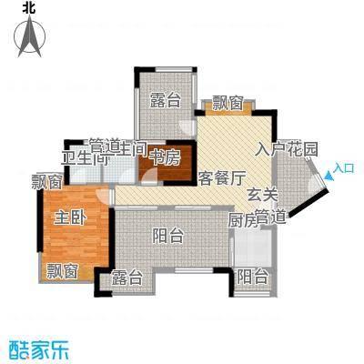 依云上城88.00㎡依云上城户型图4座01户型8-32奇数层2室1厅2卫户型2室1厅2卫