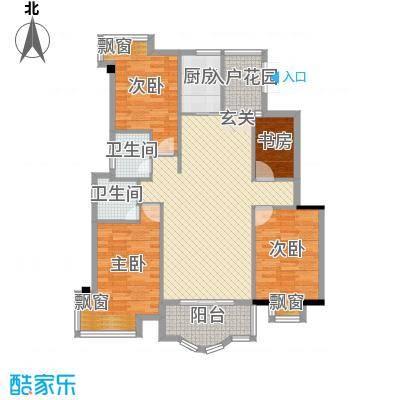 左海帝景133.00㎡左海帝景户型图2#06单元3室2厅2卫1厨户型3室2厅2卫1厨
