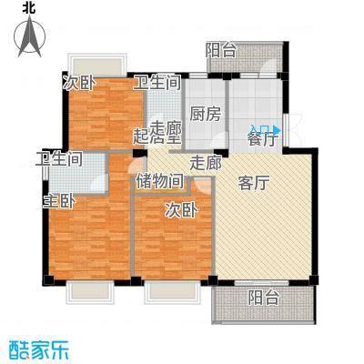 联邦广场125.72㎡联邦广场户型图3室2厅2卫1厨户型10室