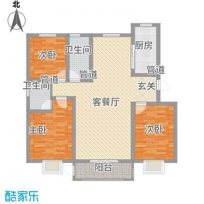 花漾山125.84㎡花漾山户型图A-D首层125.84平米3室2厅2卫户型3室2厅2卫