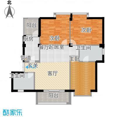 联邦广场107.92㎡联邦广场户型图3室2厅2卫1厨户型10室