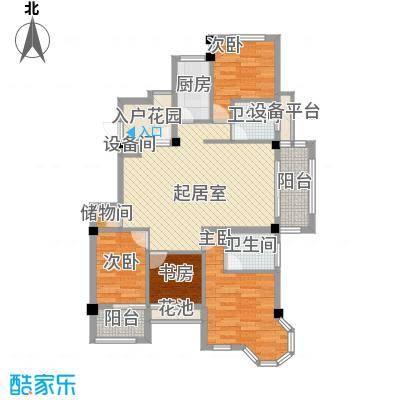 亚侨花园101.00㎡亚侨花园3室户型3室