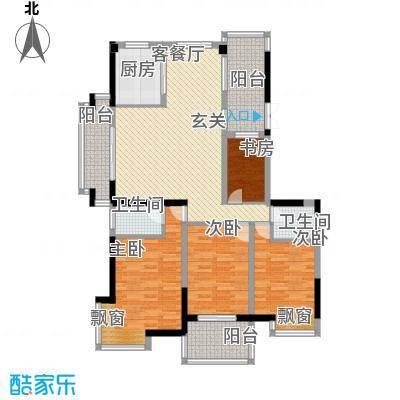 棕榈泉国际花园142.86㎡棕榈泉国际花园户型图4室2厅2卫1厨户型10室
