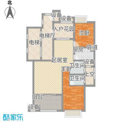 福湾新城夏雨苑B区80.00㎡福湾新城夏雨苑B区2室户型2室