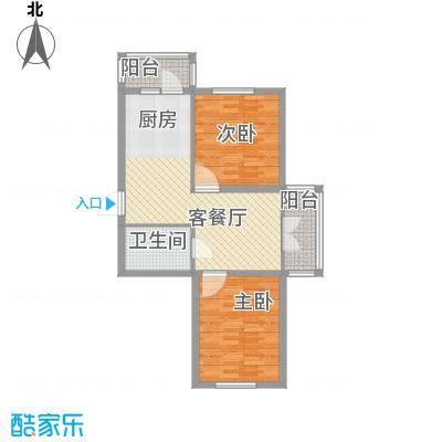 东辉明珠园56.00㎡东辉明珠园2室户型2室
