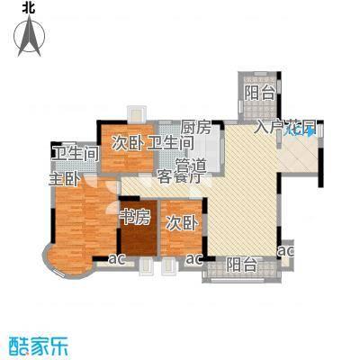 中惠沁林山庄120.00㎡中惠沁林山庄3室户型3室