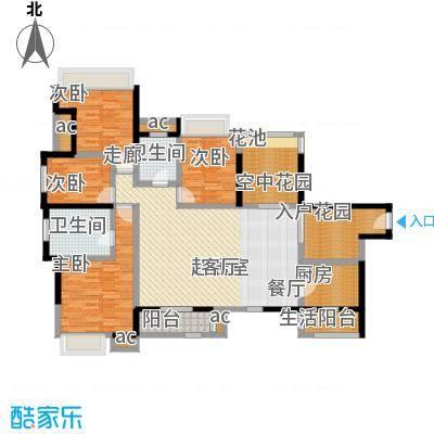 中惠沁林山庄151.34㎡中惠沁林山庄户型10室