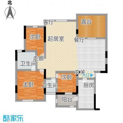 中惠沁林山庄123.00㎡中惠沁林山庄户型图18、19号楼标准层01、02户型户型10室