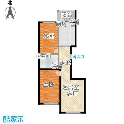 金河铭苑户型图G10-01户型  2室1厅1卫1厨