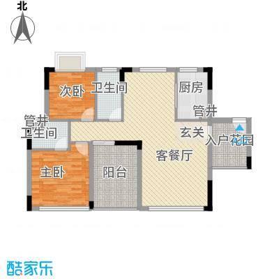 鼎湖森邻户型图M1栋18层02户型 2室2厅2卫1厨