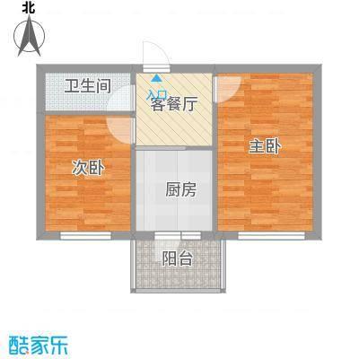 常盛源户型图户型 使用面积34.51㎡ 2室1厅1卫1厨