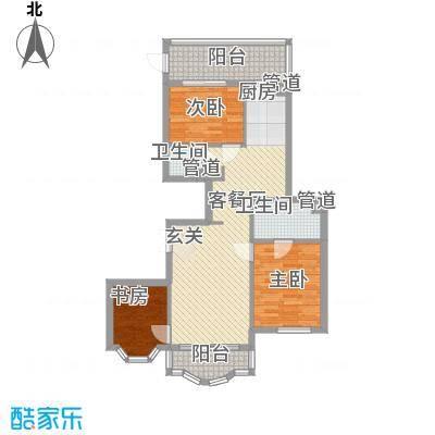 荣耀上城104.45㎡荣耀上城户型图两室两厅104.45平方米2室2厅1卫1厨户型2室2厅1卫1厨
