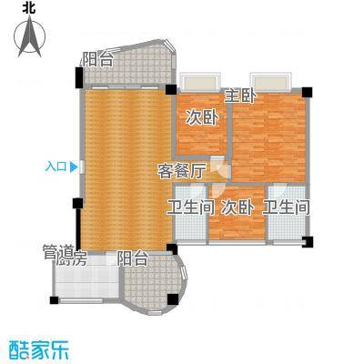 丽日豪庭 3室 户型图