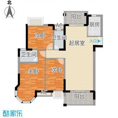海景蓝湾128.90㎡海景蓝湾户型图3期江畔5座02单元3室2厅2卫户型3室2厅2卫