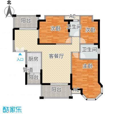 海景蓝湾120.00㎡海景蓝湾户型图3座03单位3室2厅1卫1厨户型3室2厅1卫1厨