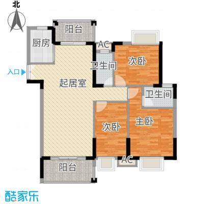 海景蓝湾128.83㎡海景蓝湾户型图3期江畔6座02单元3室2厅2卫户型3室2厅2卫