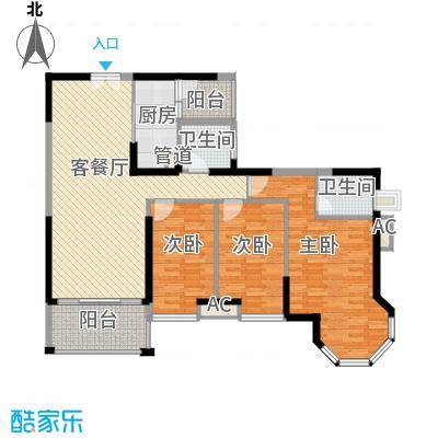 海景蓝湾117.00㎡海景蓝湾户型图3座01单位3室2厅2卫1厨户型3室2厅2卫1厨