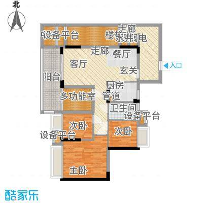 御龙湾88.86㎡御龙湾户型图1座04单位3室2厅1卫1厨户型3室2厅1卫1厨