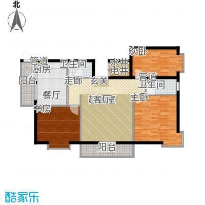 民生国际117.63㎡D户型3室1厅2卫1厨