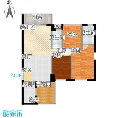 濠兴逸苑142.00㎡濠兴逸苑3室户型3室