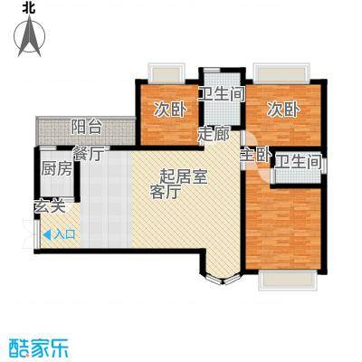 濠兴逸苑135.00㎡濠兴逸苑3室户型3室