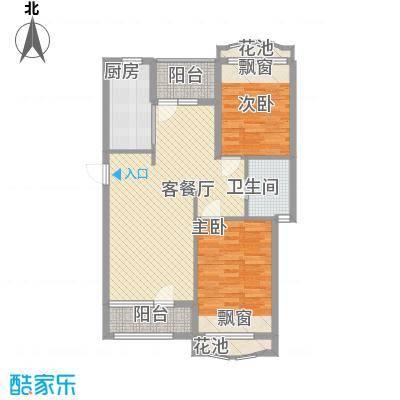 远洋时代城87.00㎡远洋时代城户型图64#楼D户型2室2厅1卫1厨户型2室2厅1卫1厨