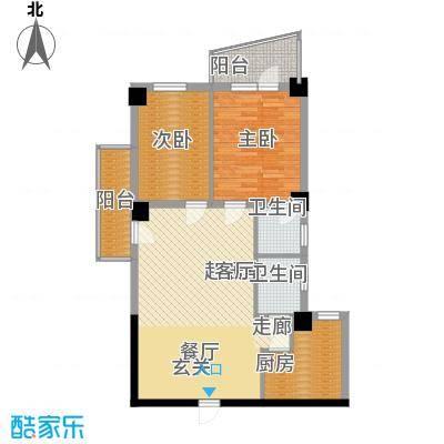 南峰玫瑰园85.00㎡南峰玫瑰园2室户型2室