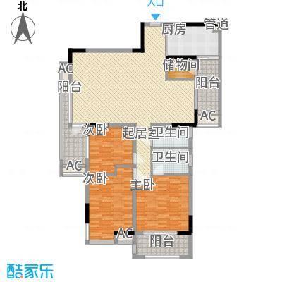 丰泰观山碧水二期别墅丰泰观山碧水二期别墅户型图8栋标准层03、04单元3室2厅2卫户型3室2厅2卫