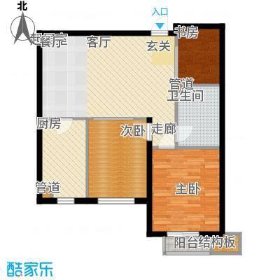 普罗旺斯88.00㎡普罗旺斯户型图6#楼C户型3室1厅1卫1厨户型3室1厅1卫1厨