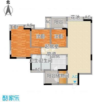 丰泰观山碧水二期别墅丰泰观山碧水二期别墅户型图12栋标准层02单元3室2厅2卫户型3室2厅2卫