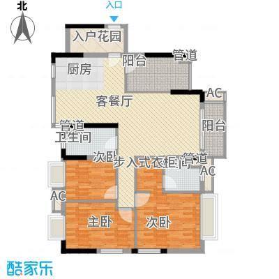 棕榈泉五期145.00㎡棕榈泉五期户型图25座标准层R3户型3室2厅2卫1厨户型3室2厅2卫1厨