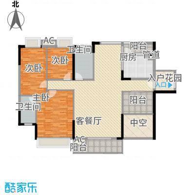 棕榈泉五期172.00㎡棕榈泉五期户型图25座标准层R1户型3室2厅2卫1厨户型3室2厅2卫1厨