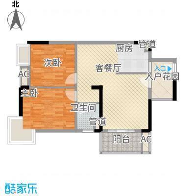棕榈泉五期83.00㎡棕榈泉五期户型图27座标准层R2户型2室2厅1卫1厨户型2室2厅1卫1厨