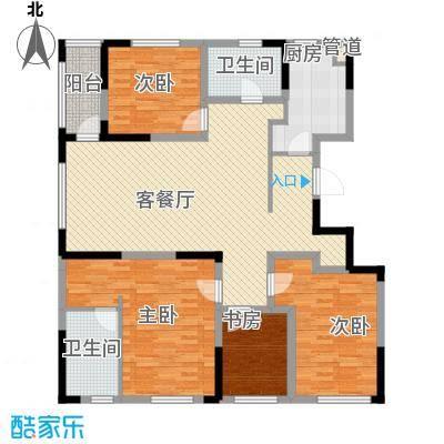 中惠山畔名城126.00㎡中惠山畔名城4室户型4室