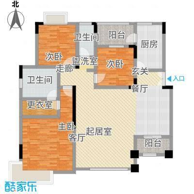 中惠沁林山庄130.00㎡中惠沁林山庄户型图20、21号楼标准层01、02户型户型10室