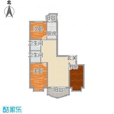 荣耀天地荣耀天地户型图D-1-2三室两厅两卫105.29平方米3室2厅2卫1厨户型3室2厅2卫1厨