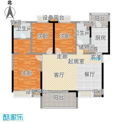 新世纪领居三期135.00㎡新世纪领居三期户型图3、4、5栋标准层D1户型3室2厅2卫1厨户型3室2厅2卫1厨