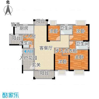 金溪尚筑166.00㎡金溪尚筑户型图1座03+04户型5室2厅2卫1厨户型5室2厅2卫1厨