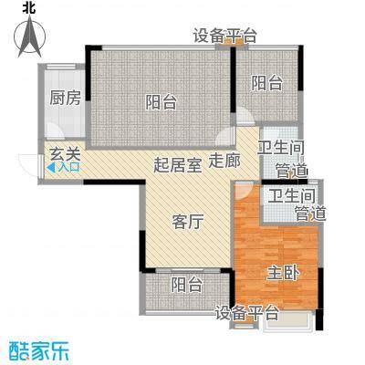 新世纪领居三期106.00㎡新世纪领居三期户型图1、2栋标准层E3户型3室1厅2卫1厨户型3室1厅2卫1厨