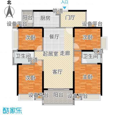 新世纪领居三期158.00㎡新世纪领居三期户型图3、4、5栋标准层D3户型4室2厅2卫1厨户型4室2厅2卫1厨