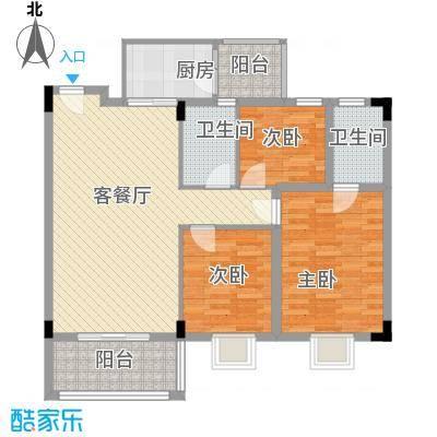 华盛锦溢华庭华盛锦溢华庭户型图b2户型三房二厅二卫户型10室