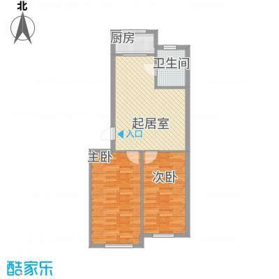 三川城80.58㎡三川城户型图户型2室2厅1卫1厨户型2室2厅1卫1厨