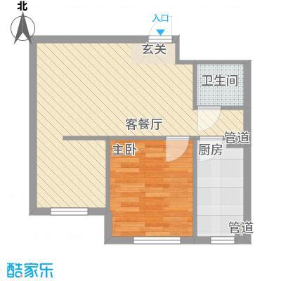 新城丽景58.22㎡新城丽景户型图4#、5#公寓G户型1室1厅户型1室1厅