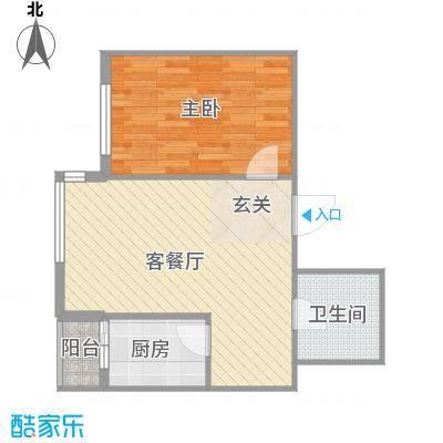 运华广场(江北)运华广场(江北)户型图使用面积46.1㎡1室1厅1卫1厨户型1室1厅1卫1厨