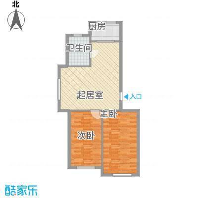 三川城87.23㎡三川城户型图户型2室2厅1卫1厨户型2室2厅1卫1厨