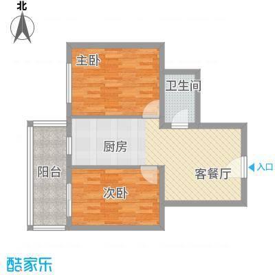 富江家园45.85㎡富江家园户型图2室1厅1卫1厨户型10室