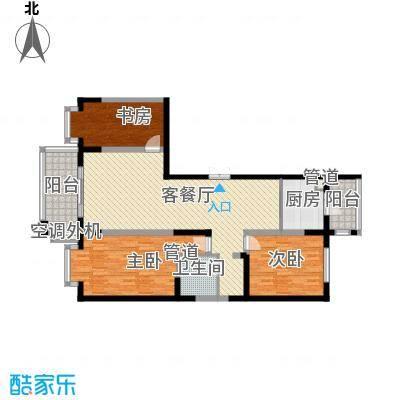 盟科观邸C区4#3单元户型3室1厅2卫1厨