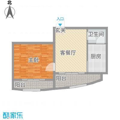 松北之家51.01㎡松北之家户型图户型1室1厅1卫1厨户型1室1厅1卫1厨