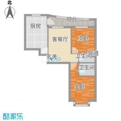 松北之家84.46㎡松北之家户型图户型2室1厅2卫1厨户型2室1厅2卫1厨